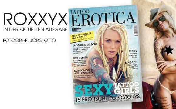 RoxxyX in der aktuellen Tattoo Erotica