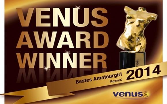 RoxxyX gewinnt den Venus-Award 2014