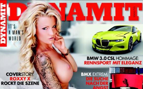 RoxxyX ist Covergirl im Dynamit Magazin 11/2015