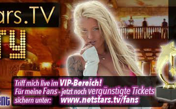 RoxxyX auf der Netstars.TV Party