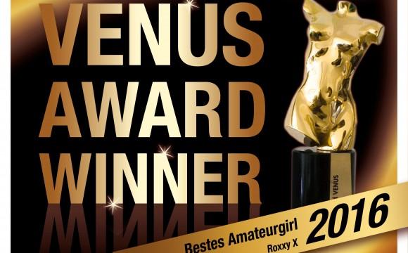 RoxxyX gewinnt Venus-Award 2016